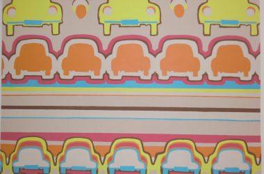 70's inspired wallpaper design